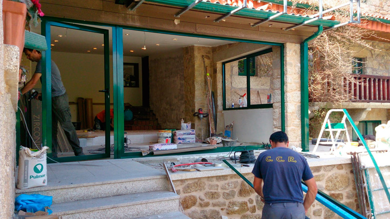 trabajos de aluminio y cristal para viviendas particulares