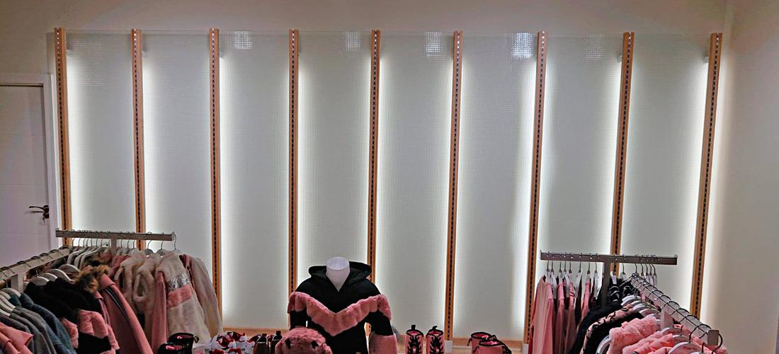 Cristal con luz led para comercios