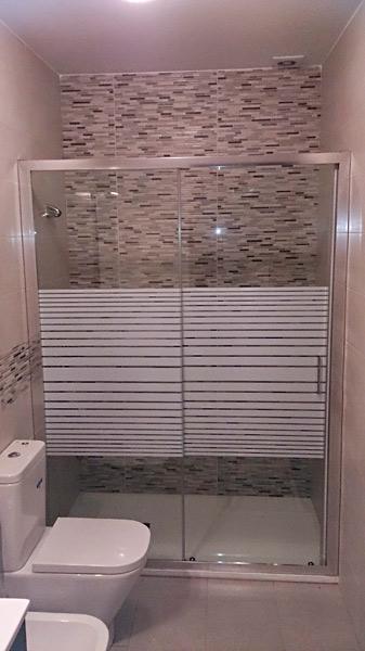 Mamparas de ducha en cristal decorado